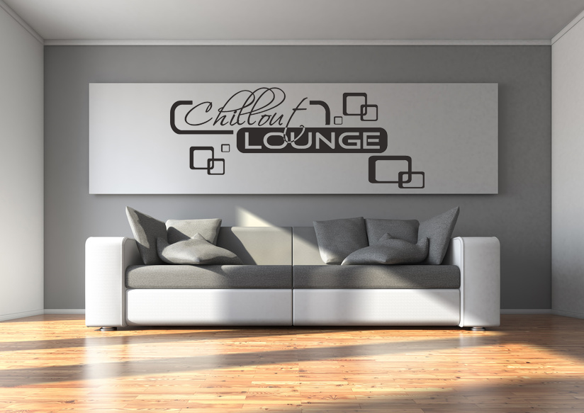 Wandtattoo Chillout Lounge Wohnzimmer Relaxzone Retro Cubes Quadrate ...