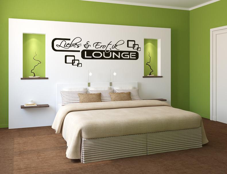 Wandtattoo Aufkleber Liebes Erotik Lounge Paar Schlafzimmer Retro ...