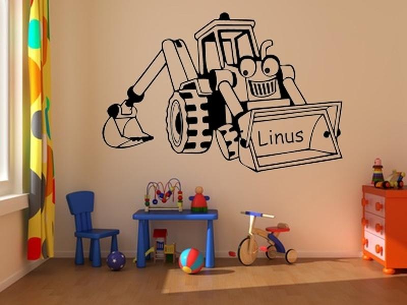 Erfreut Wandbilder Kinderzimmer Bagger Ideen - Das Beste ...